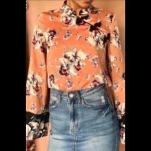 Zara Satin Orchid Blouse